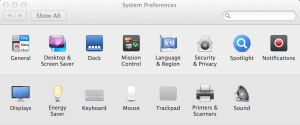Mac system preferences screen