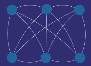 connected networks represented by circles and lines