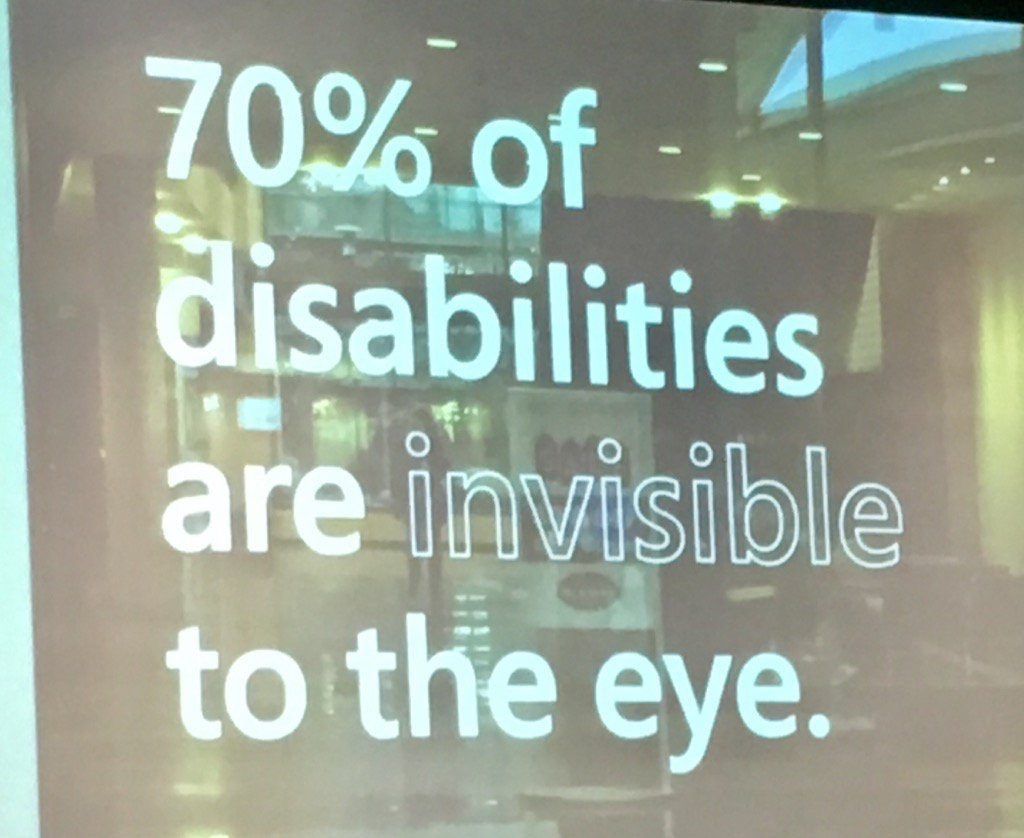 70 percent of disabilities are invisible to the eye