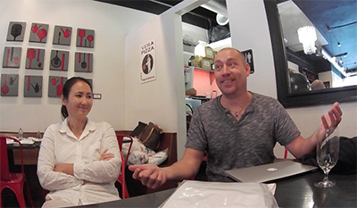 interview with Russ and Melody Stein at Mozzeria