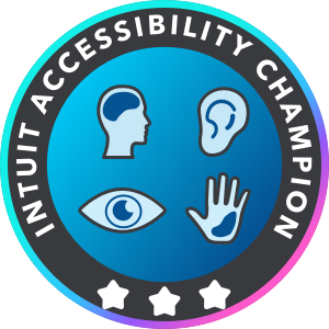 Intuit Accessibility Champion Level 3
